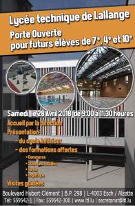 Porte Ouverte @ Lycée technique de Lallange | Esch-sur-Alzette | District de Luxembourg | Luxembourg
